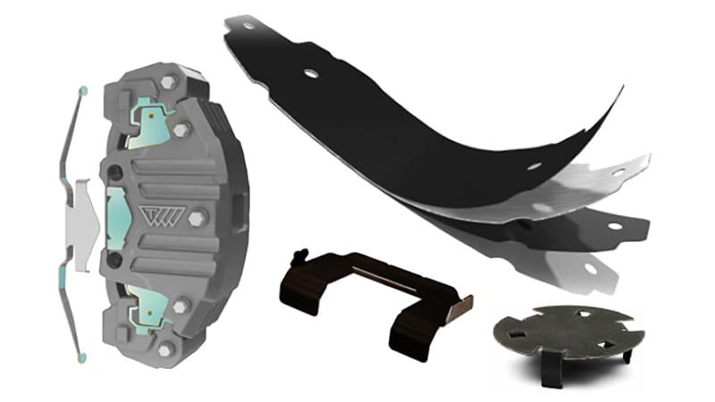 Shims Insulators For Noise Damping In Disc Brakes